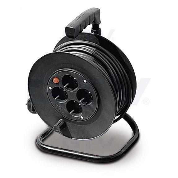 Удлинитель барабанный 220В (4 гнезда), 30м, 15А, 3х1,5ммØ, IP20