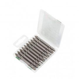 Набор бит 10пр., 1/4»(PH2xPH2, L-65мм), в пластиковом футляре