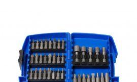 Набор бит и головок магнитных, 45пр., в пластиковом футляре
