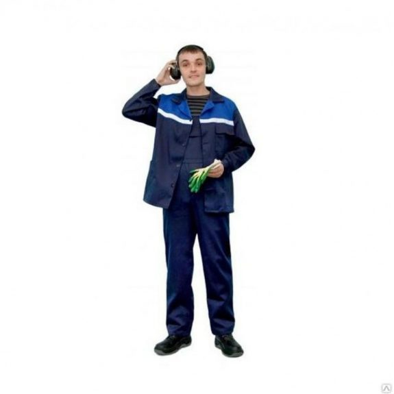 Костюм СТАНДАРТ-2 СОП синий с васил.(КУРТКА + ПОЛУКОМБИНЕЗОН), разм. 56-58 / 3-4
