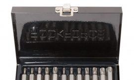 Набор бит TORX с битодержателем,15пр. 1/2»(L: 30/75мм, Т20,Т25,Т30,Т40,Т45,Т50,Т55), в металлическом кейсе