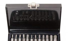 Набор бит HEX с битодержателем,15пр. 1/2»(L:30/75мм,4-8,10,12мм), в металлическом кейсе