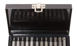 Набор бит TORX с отверстием и битодержателем,15пр. 1/2»(L: 30/75мм, Т20,Т25,Т30,Т40,Т45,Т50,Т55), в металлическом кейсе