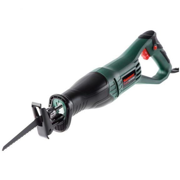 344463 Пила сабельная электрическая Hammer Flex LZK 800B 800Вт, 0-2800 ход/мин, дерево/алюминий 115мм/20мм, маятник