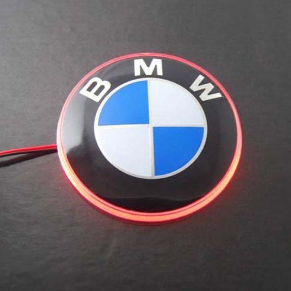 Значок с подсветкой 3D BMW RED 8,2см