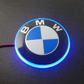 Значок с подсветкой 3D BMW BLUE 8,2см