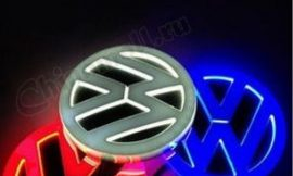 Значок с подсветкой 3D VW WHITE