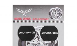 Наклейки на колпак 55мм AMG 4пр (металл)