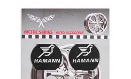 Наклейки на колпак 55мм Hamann 4пр (металл)