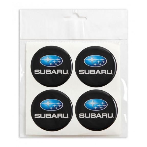 Наклейки на колпак СИЛИКОН 55мм Subaru 4пр