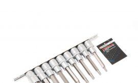 Набор головок-бит Ribe 6-лучевых,9 пр.(М5,М6,М7,М8,М9,М10,М12,М14,М16, L-100мм), на планке