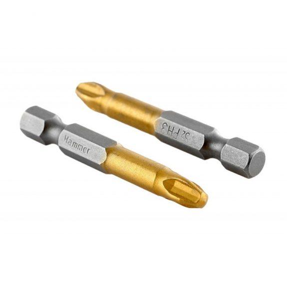 30718 Бита Hammer Flex 203-112 PB PH-3 50mm (2pcs) TIN, 2шт.