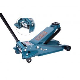 Домкрат подкатной гидравлический двухштоковый 4т с 3-мя уровнями фиксации(h min 140мм, h max 508мм)