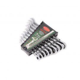 Набор ключей комбинированных трещоточных с шарниром, 9пр. (8,10,12,13,14,16,17,18,20мм )в пластиковом держателе