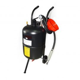 Передвижной пескоструйный аппарат напорного типа (бак 38л, 170-710л/мин, 4-8,5атм)пневмо