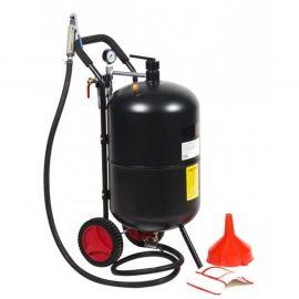 Передвижной пескоструйный аппарат напорного типа (бак 75л, 170-710л/мин, 4-8,5атм)пневмо