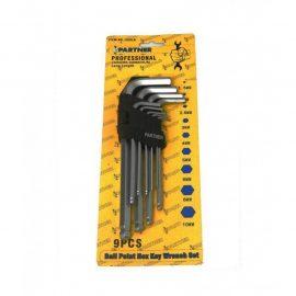 Набор ключей 6-гранных Г-образных экстра длинных с шаром 9пр.(1,5-10мм) в пластиковом держателе