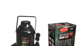 Домкрат бутылочный 50т с клапаном (высота подхвата — 300мм, высота подъема — 480мм, ход штока — 180мм)