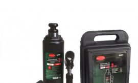 Домкрат бутылочный 3т с клапаном (высота подхвата — 193мм, высота подъема — 373мм, ход штока — 120мм, ход винта-60мм) в кейсе
