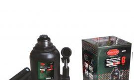 Домкрат бутылочный двухштоковый с клапаном 6т (высота подхвата — 215мм, высота подъема — 485мм, ход штока — 270мм,)