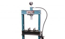 Пресс гидравлический с манометром напольный 20т, (рабочая высота: 0-1100мм, рабочая ширина: 490мм, рабочий стол: 200х490мм, ход штока: 145мм)