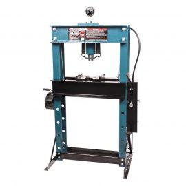 Пресс гидравлический напольный 40т, ручной/ножной привод (рабочая высота: 0-865мм, рабочая ширина: 685мм, рабочий стол: 325х685мм, ход штока: 180мм)