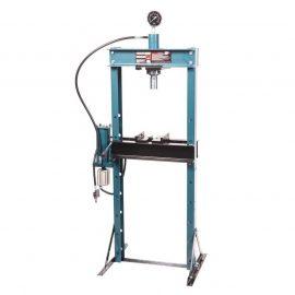 Пресс гидравлический с манометром напольный 20т, ручной/пневмо привод (раб. высота:0-1100мм, раб. ширина: 490мм, раб. стол:200х490мм, ход штока:145мм)