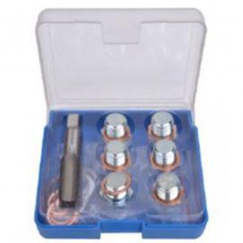 Набор инструментов для восстановления резьбы сливного отверстия поддона: M17х1,5мм 13пр., в футляре.