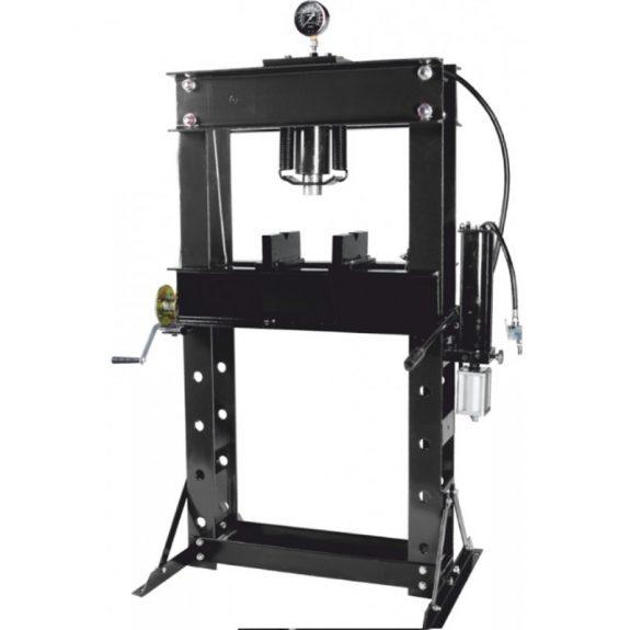 Пресс гидравлический напольный 45т, ручной/пневмо привод (рабочая высота: 0-865мм, рабочая ширина: 645мм, рабочий стол: 325х645мм, ход штока: 190мм)