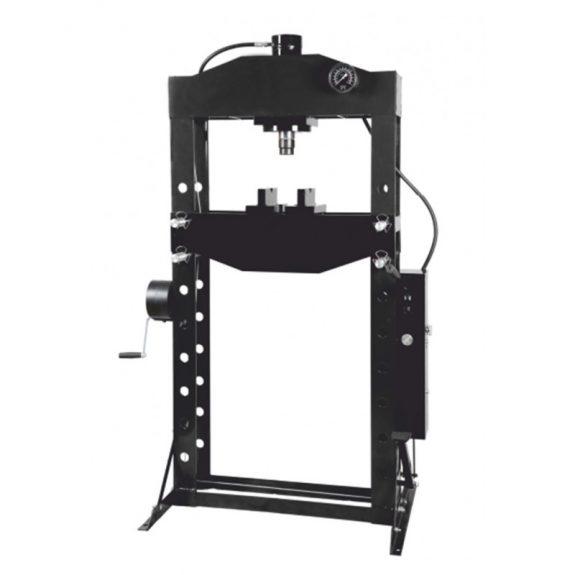 Пресс гидравлический напольный 50т, ручной/ножной привод (рабочая высота: 88-1068мм, рабочая ширина: 730мм, рабочий стол: 240х730мм, ход штока: 220мм)