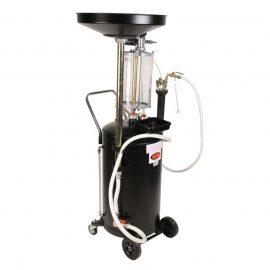 Установка пневматическая для удаления отработанного масла перекатная с индикатором заполнения(бак 90л,предкамера 10л.воронка-10л,5 щупов (max t-60гр)