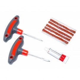 Набор инструментов для ремонта шин 8пр.(шило и протяжка с прорезиненными рукоятками,шнуры,клей), в блистере