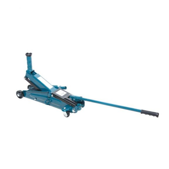 Домкрат подкатной гидравлический с механизмом быстрого подъема и сменной надставкой, 3т (h min-150, h max-530мм)