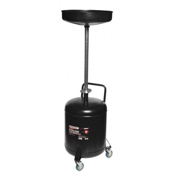 Установка для слива отработанного масла перекатная с индикатором заполнения (бак-60л, воронка-10л)