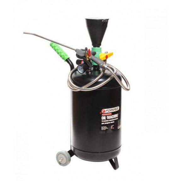 Установка пневматическая перекатная для раздачи масла с емкость 20л, воронкой для заливки и индикатором заполнения