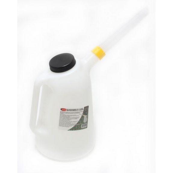 Емкость мерная пластиковая для заливки масла 5л