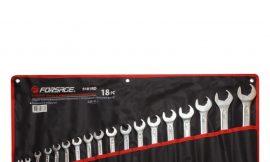 Набор ключей комбинированных с профилем »Ratchet Drive»-»быстрый ключ», 18пр. (7, 8, 10-19, 21, 22, 24, 27, 30, 32мм), на полотне