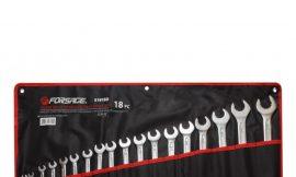 Набор ключей комбинированных с профилем »Super Drive»12гр., 18пр. (7, 8, 10-19, 21, 22, 24, 27, 30, 32мм), на полотне