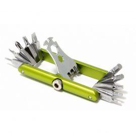 Набор ключей складной 11пр.(Н:2,2.5,3,4,5,6, PH,1,2, Т25, SL:6мм, HEX:3, 3.5, 4, 8, 10мм), в футляре