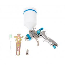 Краскораспылитель с верхним пластиковым бачком (600мл, 1.7мм, 3.5bar, 100-128 л/мин, присоед. резьба 1/4»+штуцер)