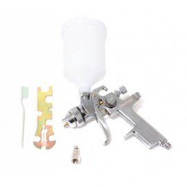 Краскораспылитель с верхним пластиковым бачком (600мл, 1.4мм, 3.5bar, 85-114 л/мин, присоед. резьба 1/4»+штуцер)