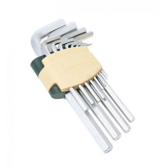 Набор ключей Г-образных 6-гранных 11пр.(1.5, 2, 2.5, 3, 4, 5, 6, 7, 8, 10, 12мм)в пластиковом держателе
