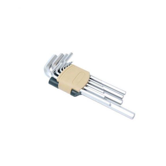 Набор ключей Г-образных 6-гранных длинных 11пр.(1.5, 2, 2.5, 3, 4, 5, 6, 7, 8, 10, 12мм)в пластиковом держателе