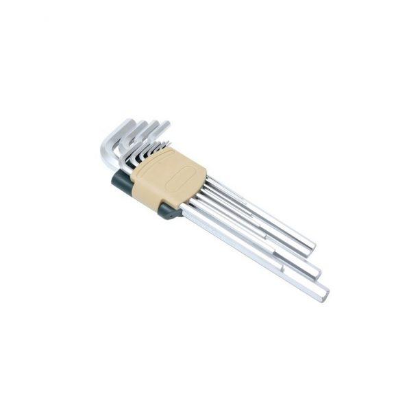 Набор ключей Г-образных 6-гранных экстра длинных 11пр. (1.5, 2, 2.5, 3, 4, 5, 6, 7, 8, 10, 12мм)в пластиковом держателе