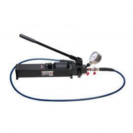 Насос гидравлический ручной с манометром(давление 20-700bar, объем масла-2.5л, длина-550мм, ширина-130мм, высота-140мм)