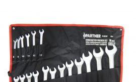 Набор ключей комбинированных, 18пр.(8-19, 21, 22, 24, 27, 30, 32мм), на полотне