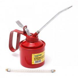 Пресс-масленка с гибким шлангом и дополнительным жестким наконечиком удлинителем 240мл