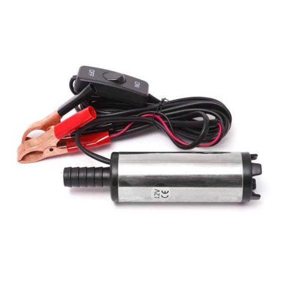 Насос для перекачки топлива (12В, диам. 38мм, мощность 40Вт, 20 л/мин., диам. выходного отверстия 16мм, 8500 об/мин, длина провода 3м)