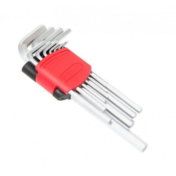 Набор ключей Г-образных 6-гранных длинных, 11пр.(1.5, 2, 2.5, 3, 4, 5, 6, 7, 8, 10, 12мм)в пластиковом держателе