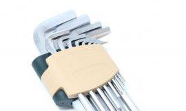 Набор ключей Г-образных 6-гранных длинных, 13пр. (2, 2.5, 3-8, 10, 12, 14, 17, 19мм)в пластиковом держателе